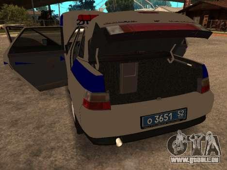 VAZ 2110 DPS für GTA San Andreas Innenansicht