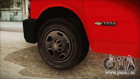 Indonesian PMI Ambulance für GTA San Andreas zurück linke Ansicht