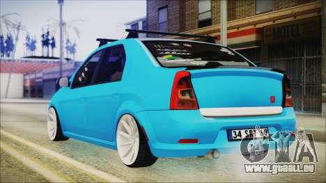 Dacia Logan Cadde Style pour GTA San Andreas laissé vue