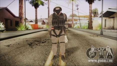 XOF Soldier (Metal Gear Solid V Ground Zeroes) pour GTA San Andreas deuxième écran