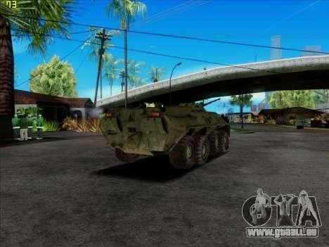 BTR 80 für GTA San Andreas zurück linke Ansicht
