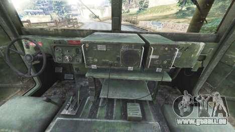 GTA 5 HMMWV M-1116 [woodland] arrière droit vue de côté