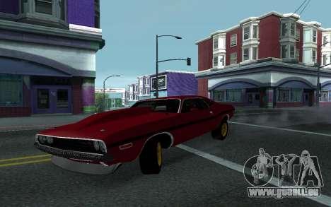 Dodge Challenger Tunable für GTA San Andreas Rückansicht