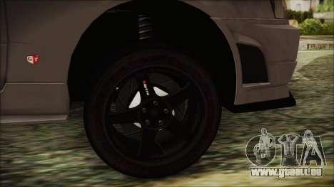 Nissan Skyline Nismo Body Kit pour GTA San Andreas sur la vue arrière gauche
