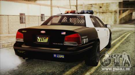 GTA 5 Vapid Stranier II Police Cruiser pour GTA San Andreas laissé vue