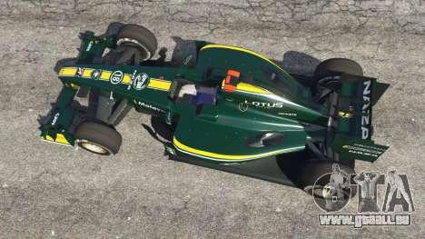 GTA 5 Lotus T127 vue arrière