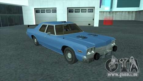 Dodge Monaco V8 7.2L 1974 pour GTA San Andreas vue intérieure