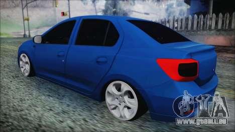 Dacia Logan 2015 pour GTA San Andreas sur la vue arrière gauche