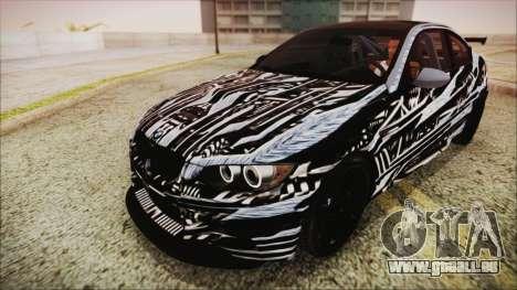 BMW M3 GTS 2011 HQLM für GTA San Andreas obere Ansicht