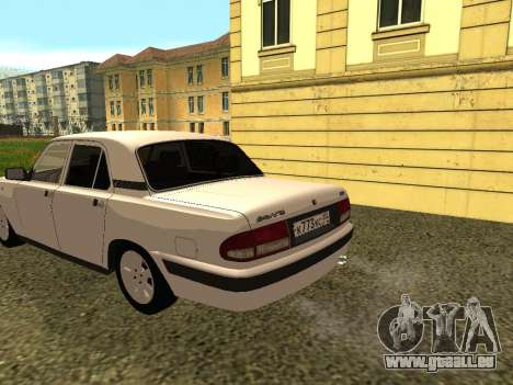 Wolga GAZ 3110 für GTA San Andreas zurück linke Ansicht