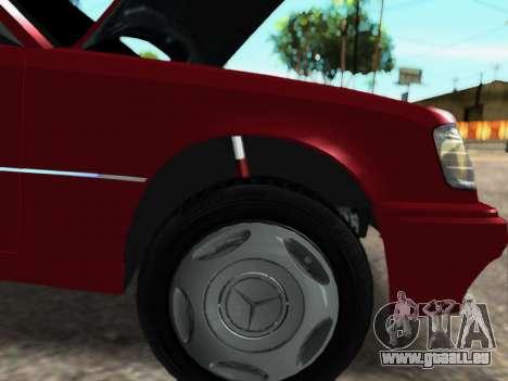 Mercedes-Benz W124 E500 pour GTA San Andreas laissé vue