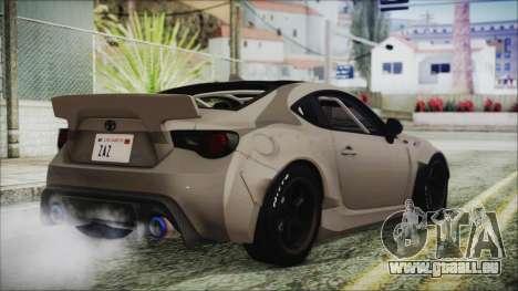 Toyota GT86 Rocket Bunny Tunable HQLM pour GTA San Andreas laissé vue
