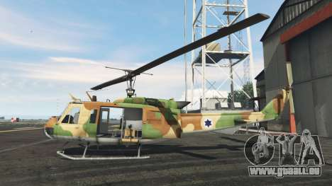 GTA 5 Bell UH-1D Israeli Air Force zweite Screenshot