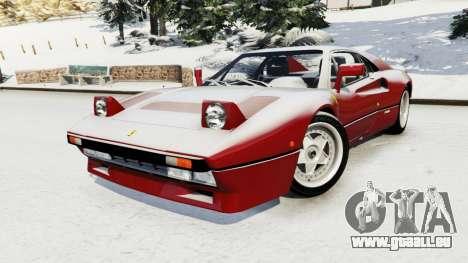 GTA 5 Ferrari 288 GTO 1984 droite vue latérale