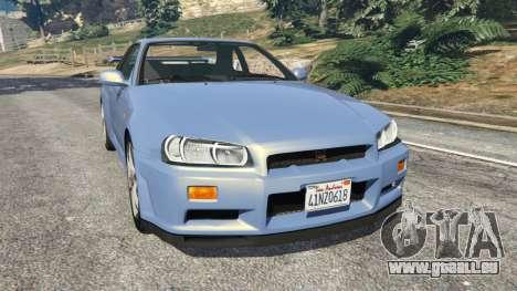 Nissan Skyline R34 2002 pour GTA 5