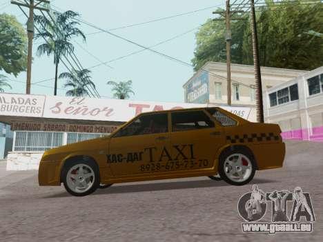 VAZ 21099 Tuning Russian Taxi pour GTA San Andreas laissé vue