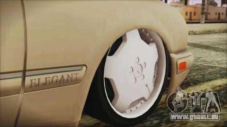 Mercedes-Benz E420 für GTA San Andreas zurück linke Ansicht