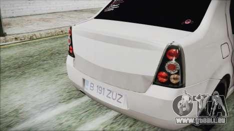 Dacia Logan pour GTA San Andreas vue arrière