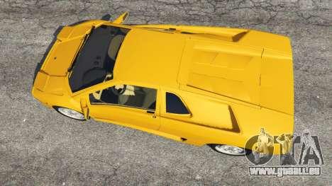 GTA 5 Lamborghini Diablo Viscous Traction 1994 vue arrière
