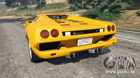 GTA 5 Lamborghini Diablo Viscous Traction 1994 arrière vue latérale gauche