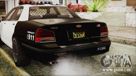 GTA 5 Vapid Stranier II Police Cruiser IVF für GTA San Andreas obere Ansicht