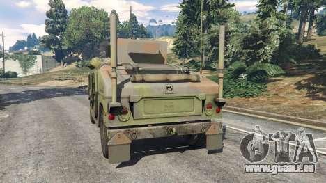 GTA 5 HMMWV M-1116 [woodland] arrière vue latérale gauche