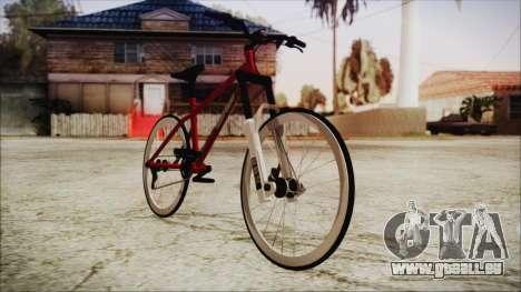Scorcher Racer Bike pour GTA San Andreas sur la vue arrière gauche