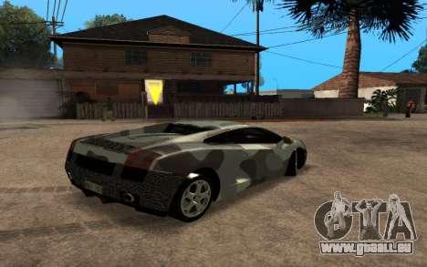 Lamborghini Gallardo Tunable v2 pour GTA San Andreas vue intérieure