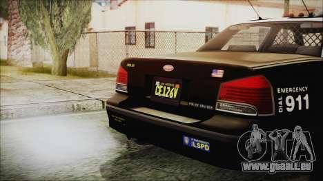 GTA 5 Vapid Stranier II Police Cruiser pour GTA San Andreas vue de droite