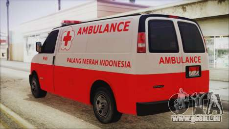 Indonesian PMI Ambulance für GTA San Andreas linke Ansicht