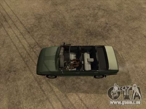 VAZ 21099 Convertible pour GTA San Andreas vue arrière