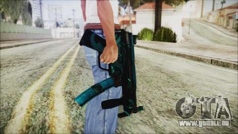 MP5K Black Blue Abstract für GTA San Andreas dritten Screenshot