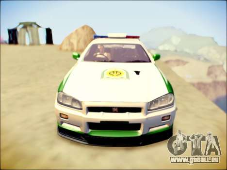 Nissan Skyline Iranian Police pour GTA San Andreas laissé vue