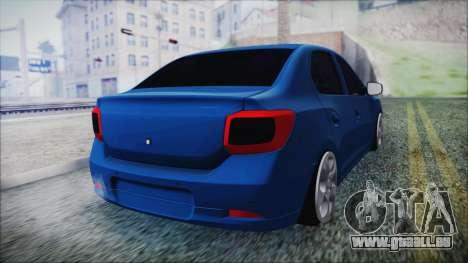 Dacia Logan 2015 pour GTA San Andreas laissé vue