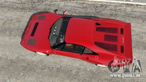 GTA 5 Ferrari 288 GTO 1984 vue arrière