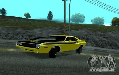 Dodge Challenger Tunable pour GTA San Andreas sur la vue arrière gauche