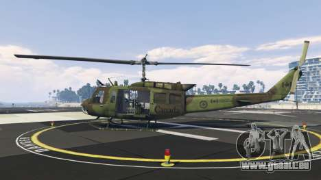 GTA 5 Bell UH-1D Huey Royal Canadian Air Force deuxième capture d'écran