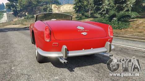GTA 5 Ferrari 250 California 1957 arrière vue latérale gauche