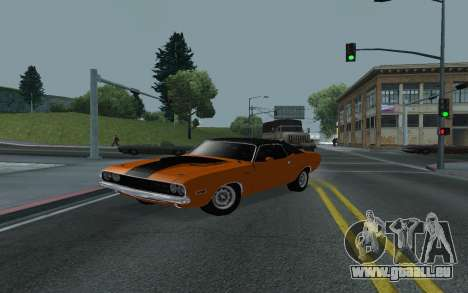 Dodge Challenger Tunable pour GTA San Andreas vue de côté
