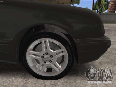 Mercedes-Benz E420 für GTA San Andreas obere Ansicht