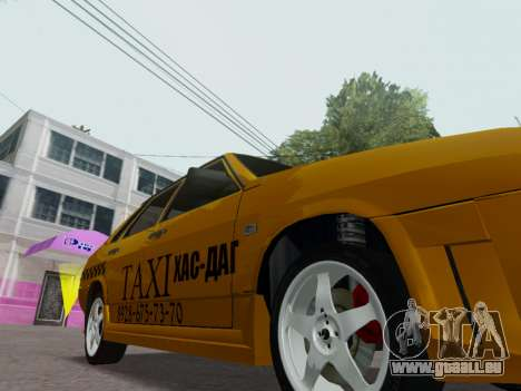 VAZ 21099 Tuning Russian Taxi pour GTA San Andreas vue intérieure