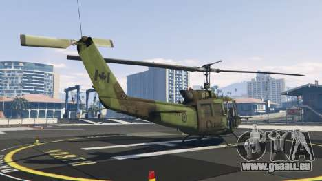 GTA 5 Bell UH-1D Huey Royal Canadian Air Force troisième capture d'écran