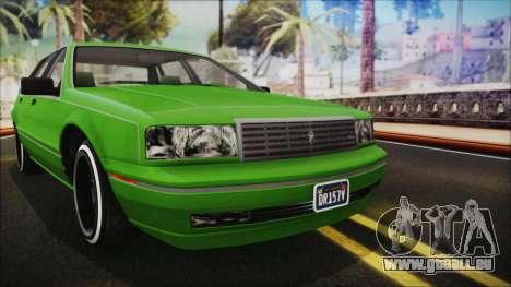 GTA 5 Albany Primo Custom No Interior IVF pour GTA San Andreas vue arrière