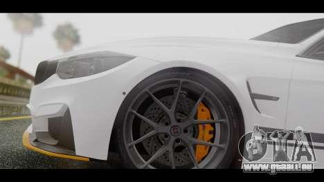 BMW M3 F30 IND EDITION pour GTA San Andreas vue arrière