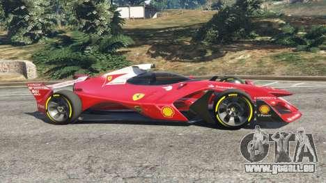 GTA 5 Ferrari F1 Concept vue latérale gauche