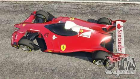 GTA 5 Ferrari F1 Concept vue arrière
