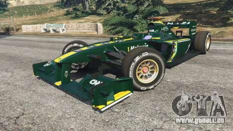 GTA 5 Lotus T127 droite vue latérale