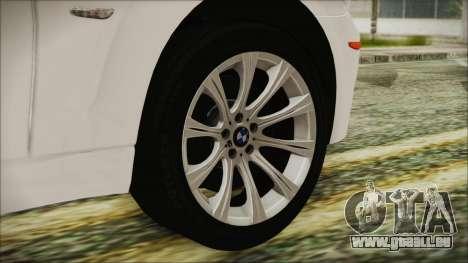 BMW M5 E60 2009 für GTA San Andreas zurück linke Ansicht