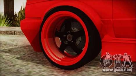 Volkswagen Golf 2 Ghetto Cult pour GTA San Andreas sur la vue arrière gauche