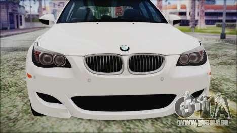 BMW M5 E60 2009 für GTA San Andreas Innenansicht